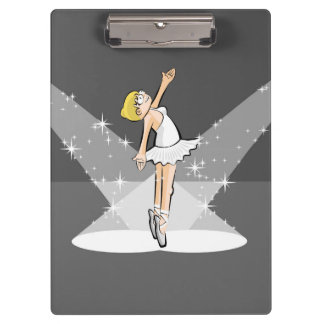 Dancing girl of ballet dancing under the centers clipboard
