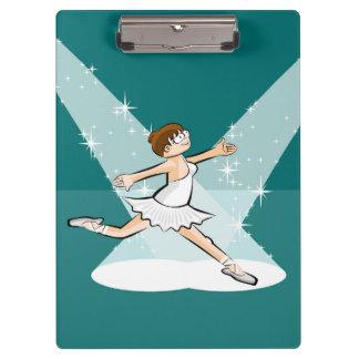 Dancing girl of ballet dancing under the lights clipboard