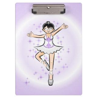 Dancing girl of ballet dancing with glamor clipboard