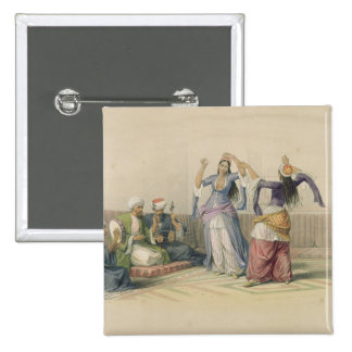 Dancing Girls at Cairo, from 'Egypt and Nubia' 2 Inch Square Button