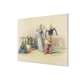 Dancing Girls at Cairo, from 'Egypt and Nubia' Canvas Print