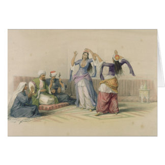 Dancing Girls at Cairo, from 'Egypt and Nubia' Card