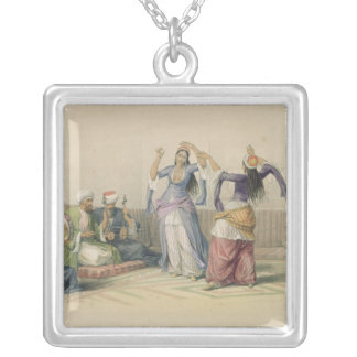Dancing Girls at Cairo, from 'Egypt and Nubia' Silver Plated Necklace
