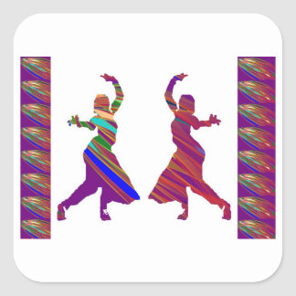 DANCING Girls :  Indian Bollywood Style Dance Square Sticker
