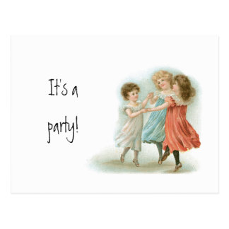 Dancing Girls Postcard Party Invitation