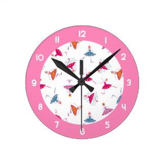 Dancing girls round clock