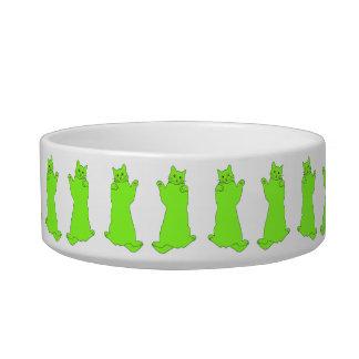 Dancing Green Cats bowl