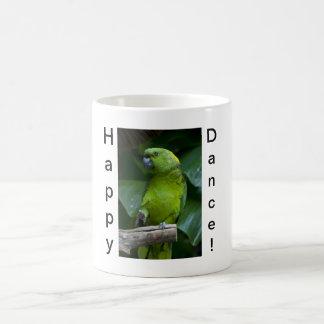 Dancing Green Parrot Coffee Mugs
