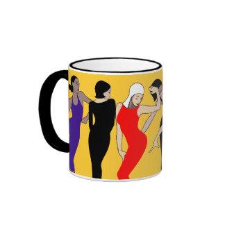 Dancing group ringer mug