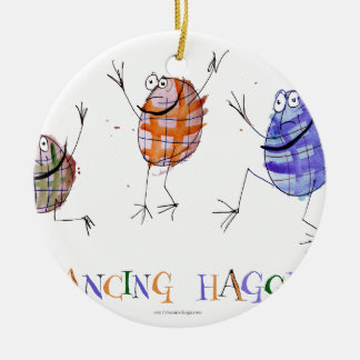 dancing haggis ceramic ornament