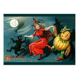 Dancing Halloween Witch Large Business Cards (Pack Of 100)