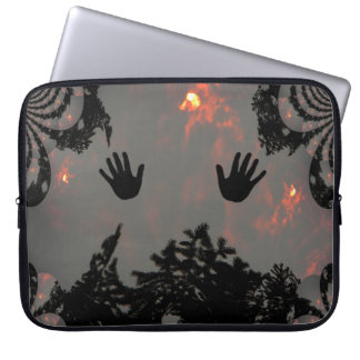Dancing hands in the fiery sky.... laptop sleeve