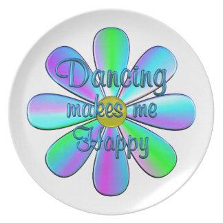 Dancing Happy Plate