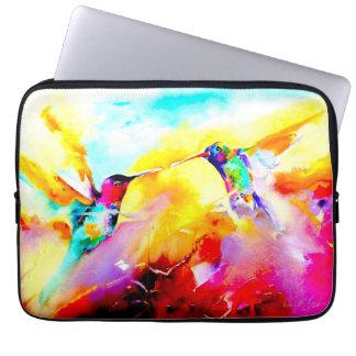 """Dancing in Color"" Hummingbird Print Laptop Sleeve"