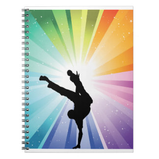 Dancing In Colour Spiral Notebook