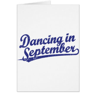 Dancing in September in blue Card