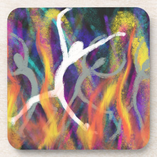 Dancing in the Furnace Christian Modern Art Design Coaster