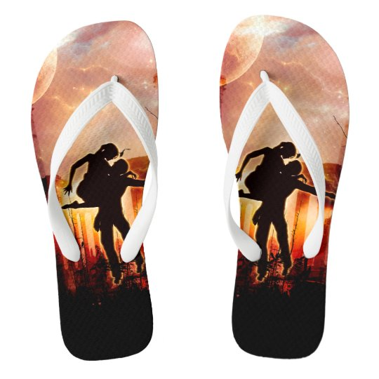 Dancing in the night flip flops