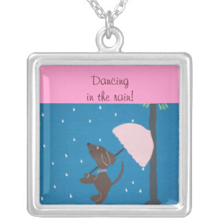 Dancing in the rain! necklace