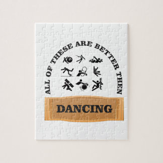 dancing is bad jigsaw puzzle