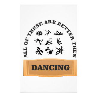 dancing is bad stationery