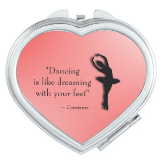 Dancing is Like Dreaming Ballet Mirror For Makeup