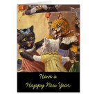 Dancing Kittens New Year Card