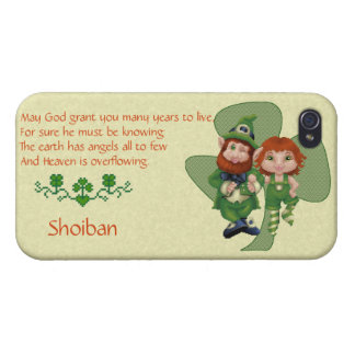 Dancing Leprecauns Pixel Art St. Patrick's Day Case For iPhone 4