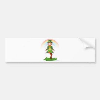 Dancing Leprechaun St Patrick s Day Irish Fun Bumper Stickers