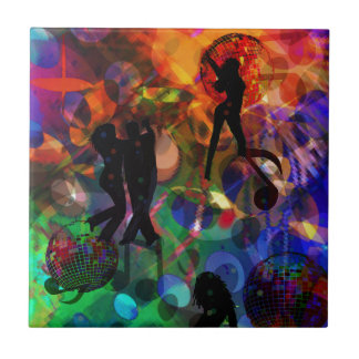 Dancing light , celebration party ceramic tiles