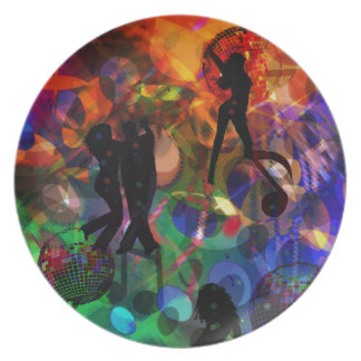 Dancing light , celebration party dinner plates