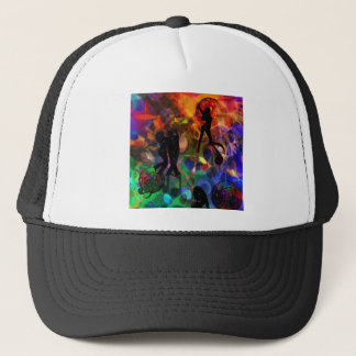Dancing light , celebration party trucker hat