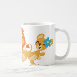 Dancing lion couple mug