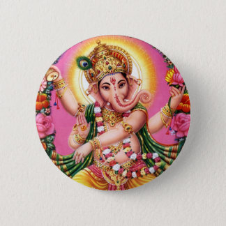 Dancing Lord Ganesha 2 Inch Round Button