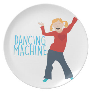 Dancing Machine Dinner Plate