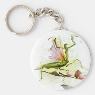 Dancing Mantis Basic Round Button Keychain