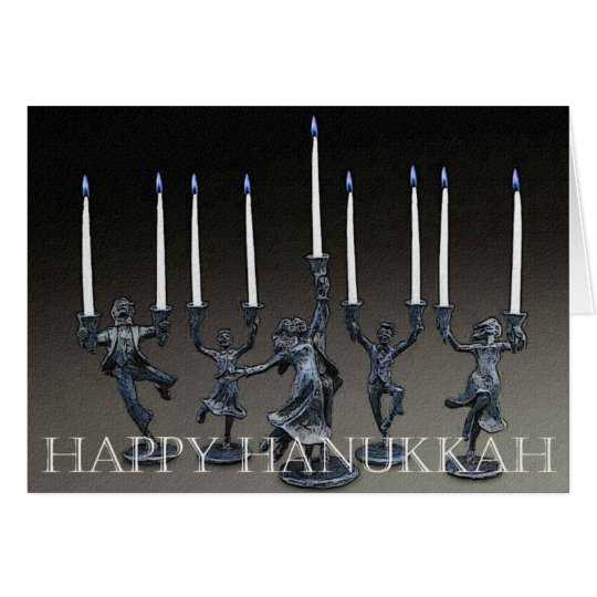 Dancing Menorah Hanukkah Card