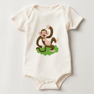 dancing monkey baby bodysuit