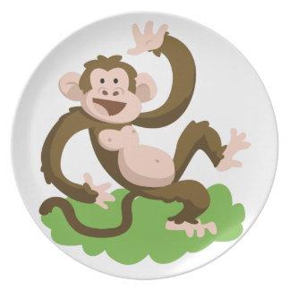 dancing monkey dinner plates