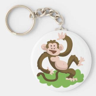 dancing monkey keychain