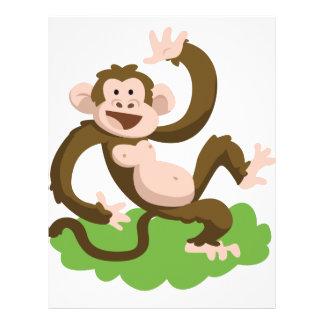 dancing monkey letterhead