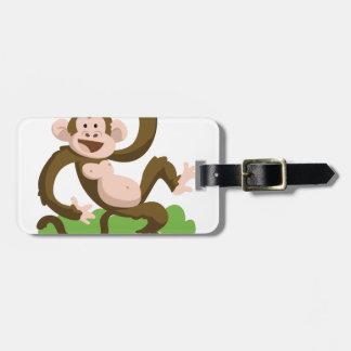 dancing monkey luggage tag