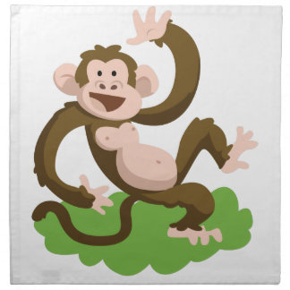 dancing monkey napkin