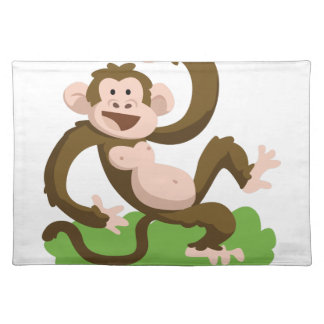 dancing monkey placemat