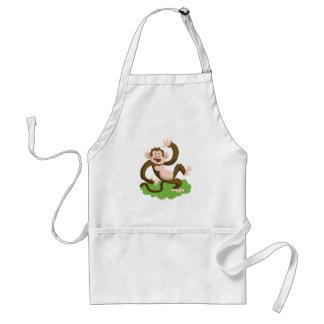 dancing monkey standard apron