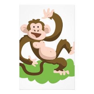 dancing monkey stationery