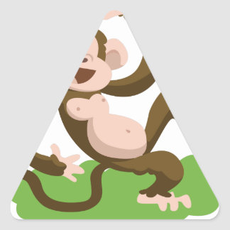 dancing monkey triangle sticker
