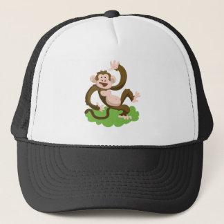 dancing monkey trucker hat