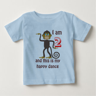 Dancing monkeys, 2nd birthday, personalized baby T-Shirt