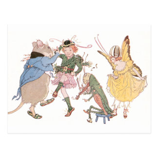 Dancing Mouse and Fairies Postcard